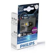 Philips Festoon XV LED T10,5x43 6000K 12V 1W SV8,5 2PCS/PACK
