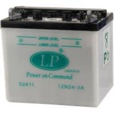 LANDPORT 12N24-3A 12V 24Ah, 198mm x 125mm x 182mm