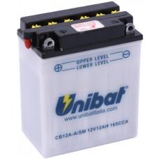 Unibat CB12A-A/SM 12Ah 165A 12V, 134mm x 80mm x 160mm