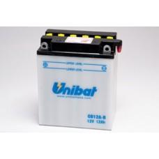 Unibat CB12A-B/SM 12Ah 165A 12V, 134mm x 80mm x 160mm