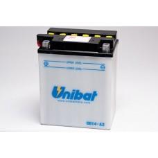 Unibat CB14-A2/SM 14Ah +- 190A 12V, 134mm x 89mm x 166mm