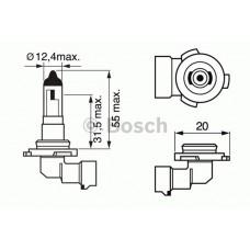 BOSCH H10 12V 45W PY20d