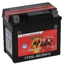 Banner YTX5L-BS 4Ah Bike Bull AGM 12V 55A, 114mm x 71mm x 106mm