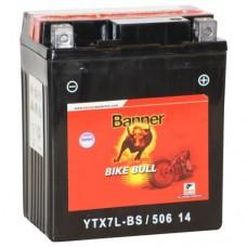 Banner YTX7L-BS 6Ah Bike Bull AGM 12V 75A, 114mm x 71mm x 131mm