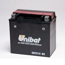 Unibat CBTX14-BS 12Ah 200A 12V, 150mm x 87mm x 145mm