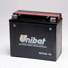 Unibat CBTX20L-BS 18Ah 270A 12V, 175mm x 87mm x 155mm