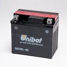 Unibat CBTX5L-BS 4Ah 70A 12V,114mm x 71mm x 106mm