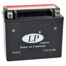 LANDPORT YTX12-BS 12V 10Ah, 150mm x 87mm x 130mm