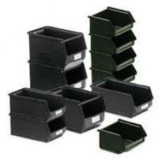 Dėžė 14/7-5 juoda, 167/140x95x77mm