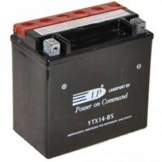 LANDPORT YTX14-BS 12V 12Ah, 150mm x 87mm x 145mm