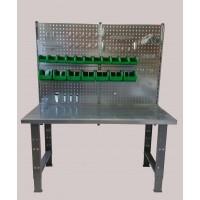 Darbo stalas su sienele, 1500x750mm, 1,5mm plieno paviršius